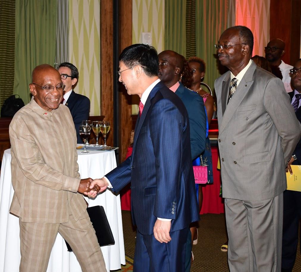 Launch of the ABCF: President Worrell, Ambassador Yan of the PRC, Vice-president Brathwaite